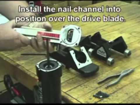 Powernail Model 445 Flex Power Roller Conversion Kit Installation Instructions