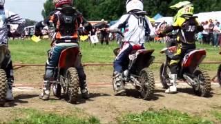 preview picture of video 'Motocross-Rennen Klasse 2 - 65ccm - Kindercross - MSC-Eichenried 2013'