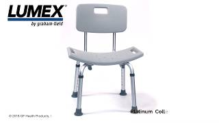 Lumex Bath Seat with Back Youtube Video Link