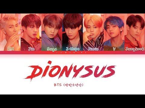 Bts Dionysus 방탄소년단 Dionysus Color Coded Lyricshanromeng가사