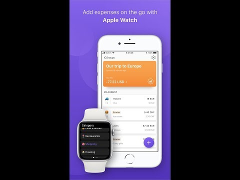 Spend Together: Share group expenses (iOS + Apple Watch app)