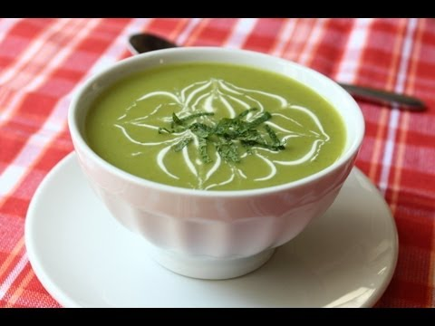 Chilled Sugar Snap Pea Soup – Cold Spring Pea Soup