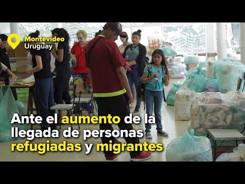 Refugiados y migrantes venezolanos reciben la solidaridad de los uruguayos
