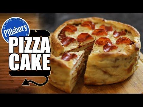 Pillsbury Pepperoni Pizza Cake Recipe - HellthyJunkFood