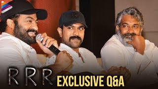 RRR Movie Full Q&A   RRR Movie Press Meet   Jr NTR   Ram Charan   SS Rajamouli   Telugu FilmNagar