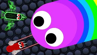 We HACKED The BIGGEST SNAKE On Slither.IO AND WON! (insane)