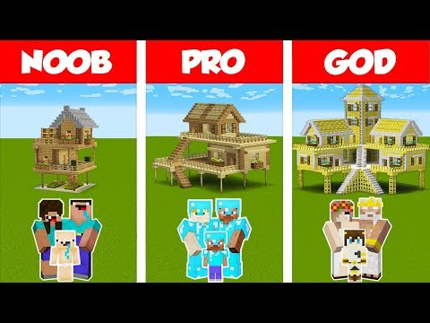 Minecraft NOOB vs PRO vs GOD: SURVIVAL FAMILY HOUSE CHALLENGE in Minecraft / Animation