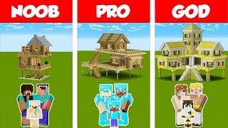 Minecraft NOOB vs PRO vs GOD: SURVIVAL FAMILY HOUSE CHALLENGE in Minecraft / Animation
