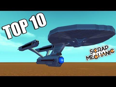 TOP 10 Filmových vozidel ve Scrap Mechanic 2