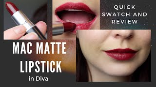 MAC Matte Lipstick In Diva - Quick Swatch And Review