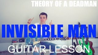 Theory of a deadman: Invisible man (GUITAR TUTORIAL/LESSON#98)