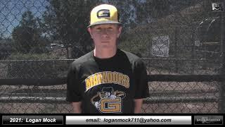 2021 Logan Mock - 3.5 GPA - Catcher Baseball Skills Video