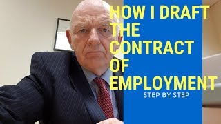 How I Draft the Contract of Employment-Step By Step
