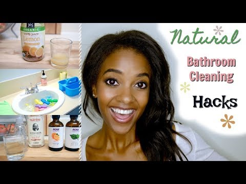 Bathroom Cleaning Hacks! | DIY Natural Cleaning Products for Non Toxic Cleaning
