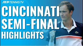 Medvedev Surges Past Djokovic; Goffin Hits Milestone | Cincinnati 2019 Semi-Final Highlights