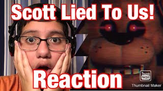 Scott Lied To Us!    Game Theory: FNAF Just Got A Reboot... (FNAF VR Help Wanted) REACTION