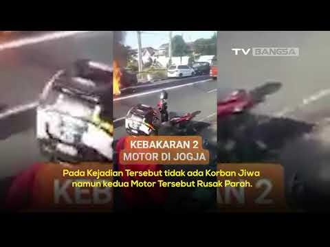 Kecelakaan Motor Hingga Terbakar di Kota Yogyakarta