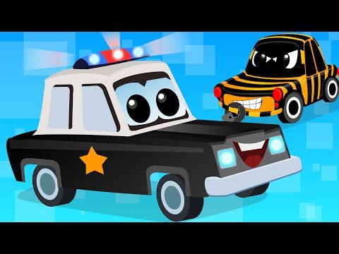 Cars Cartoons - Zeek And Friends | Police Car Song | vehicle songs