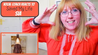 Vocal Coach Reacts to Sia 'Saved My Life' LIVE