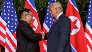 美国总统川普与朝鲜领导人金正恩的历史性会晤