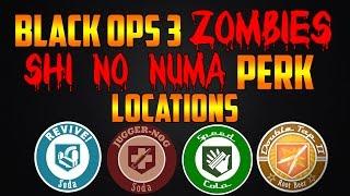 SHI NO NUMA ALL PERK LOCATIONS! (Call of Duty Black Ops 3 Zombies Chronicles)