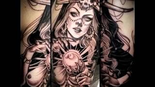 Интересные примеры тату ведьма фото для статьи про значение рисунка ведьмы в татуировке