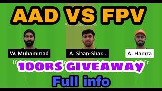AAD VS FPV DREAM 11 TEAM + 100 RS GIVEAWAY❤️