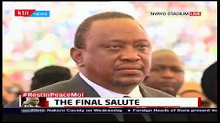 President Uhuru receives Mzee Moi\'s body at Nyayo Stadium