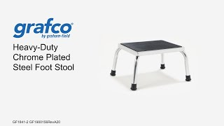 Grafco Heavy Duty Chrome Plated Foot Stool Youtube Video Link