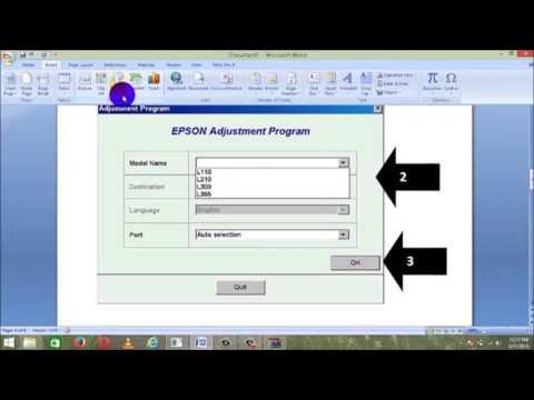 Epson l110, l210, l300, l355, l350 waste ink pad reset using