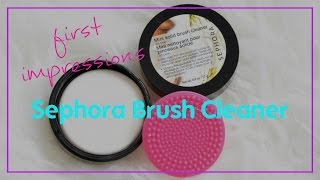 Sephora Brush Cleaner First Impressions/ Review!