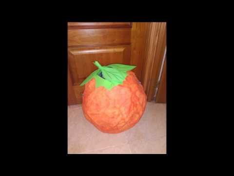 Cómo hacer un disfraz de naranja de papel maché