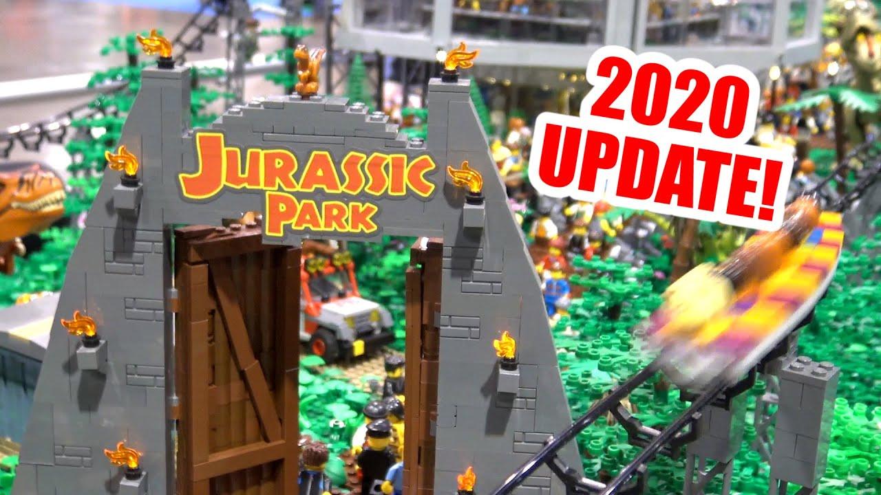 350,000 LEGO Pieces! Jurassic Park Roller Coaster Park (UPDATE)