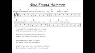 Nine Pound Hammer - bluegrass backing track