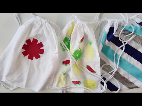 DIY: Stofftaschen bedrucken und bemalen