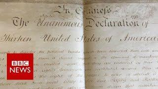 Declaration of Independence document found - BBC News