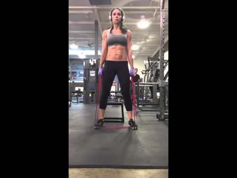 Resistance Band Deadlifts