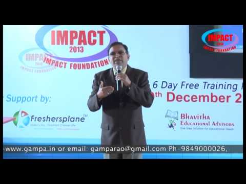 Power Of Focus|Challa Ram|TELUGU IMPACT Hyd Dec 2013