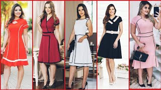 Top Class Gorgeous And Elegant ALine /Skater /Midi Dress Design For Stylish Girls