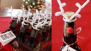 Inexpensive Holiday Neighbor & Co-Worker Gifts - Root Beer Reindeer!
