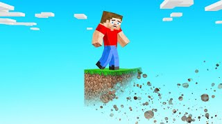 Minecraft Skyblock BUT The ISLAND Is DISAPPEARING! (100% Impossible)