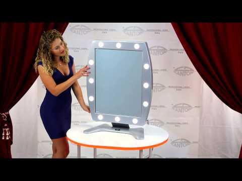video MDT Specchio Make-up da tavolo 12 punti luce