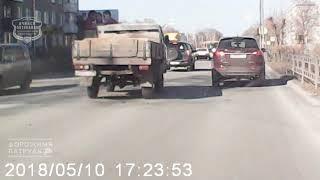 10.05.2018 ДТП Ачинск. момент аварии на ул. Свердлова.
