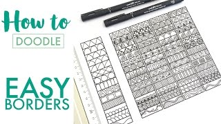 HOW TO DOODLE: Easy Borders - Mindful Doodling