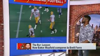 Nate Burleson breaks down how Cleveland Browns quarterback Baker Mayfield compares to Brett Favre