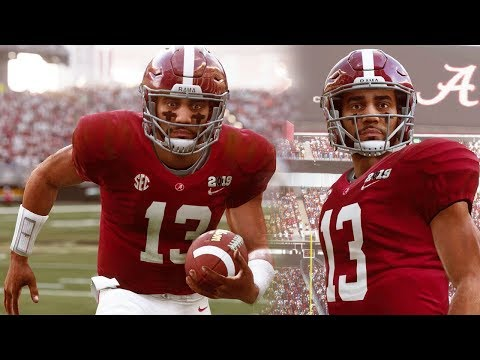 NCAA FOOTBALL 19 GAMEPLAY! ALABAMA VS CLEMSON (MADDEN 19 MOD)