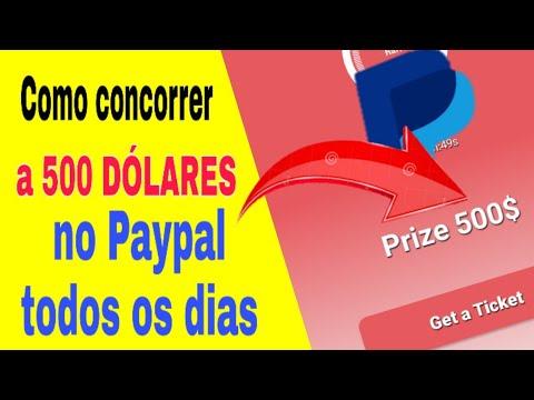 VAZOU! CONCORRA A US$ 500 NO PAYPAL TODOS OS DIAS COM TICKETS \Money no Paypal/