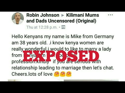 ROBIN JOHNSON EXPOSES DESPERATE KENYAN LADIES BY A SINGLE FACEBOOK POST IN KILIMANI MUMS
