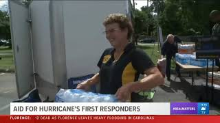 WUSA 9 Washington D.C. Covers Hogs and Heroes Hurricane Relief Efforts