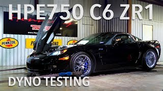 HPE750 Supercharged C6 ZR1 Chassis Dyno Testing